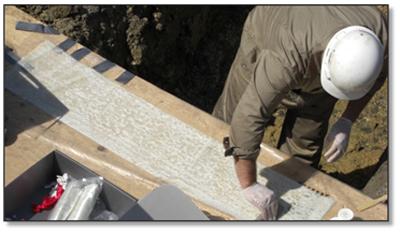 C.  Field Wetting E-Glass / Kevlar® Hybrid Fabric with 100% Solids Epoxy